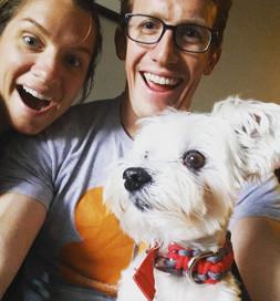 Alex, Brad and Gunther make a happy trio.
