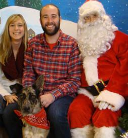 A visit to Santa Claus marks the season.